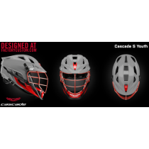 Wakefield Lacrosse Cascade S Youth Helmet Colored Chrome Mask
