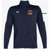 Fallston Lacrosse Adult and Youth Under Armour Rival Knit Jacket- Navy