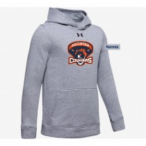 Fallston Lacrosse Women's Under Armour Hustle Fleece Hoodie- True Grey