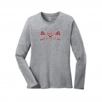 Lowell Lacrosse Ladies LS Core Cotton Tee- Athletic Grey