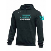 E3 Girls Lacrosse Men's and Youth Nike Club Fleece Hoodie- Black