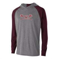 Lowell Lacrosse Youth Echo Lightweight Hoodie- Graphite Heather/Maroon