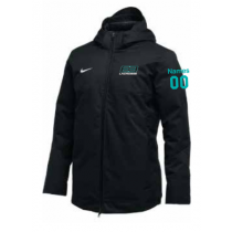 E3 Girls Lacrosse Nike Parka Jacket (Unisex)- Black