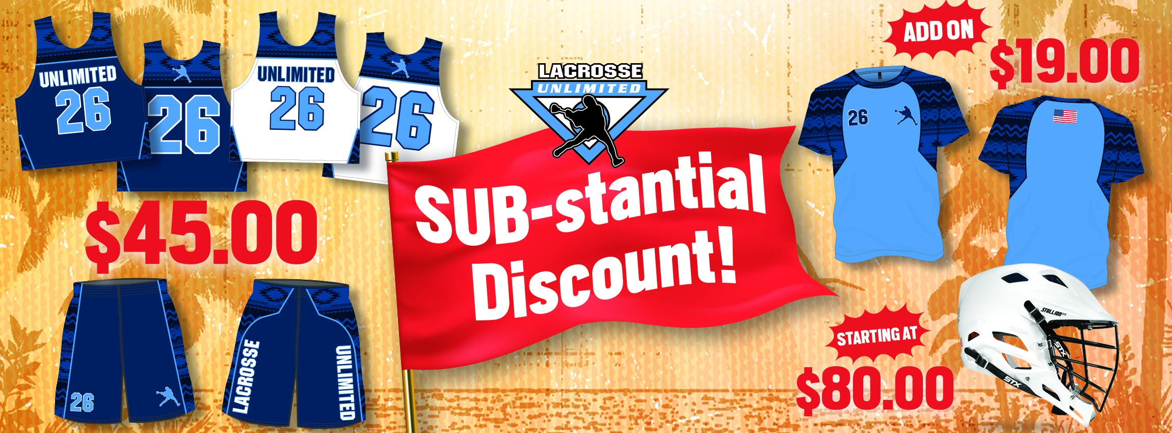Lacrosse Sublimated Reversible and Shorts Summer Deal