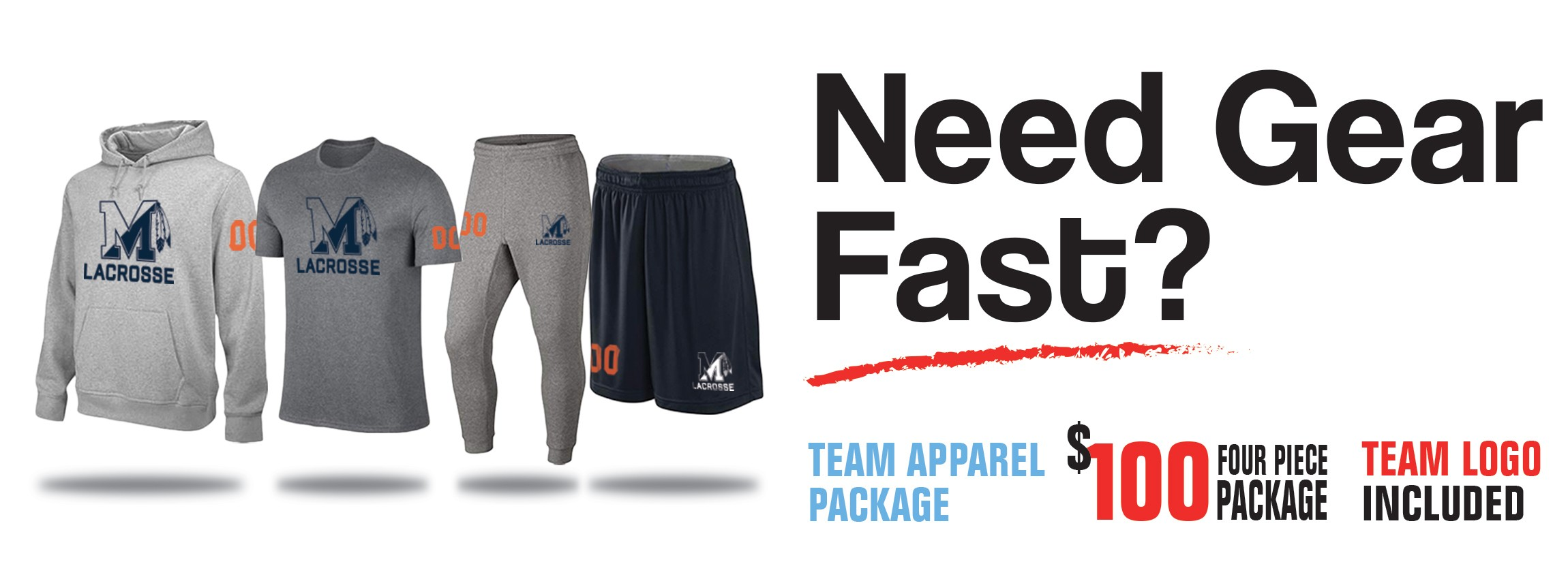 Quick Turn Custom Logos on Apparel  - Lacrosse Unlimited Team Sales