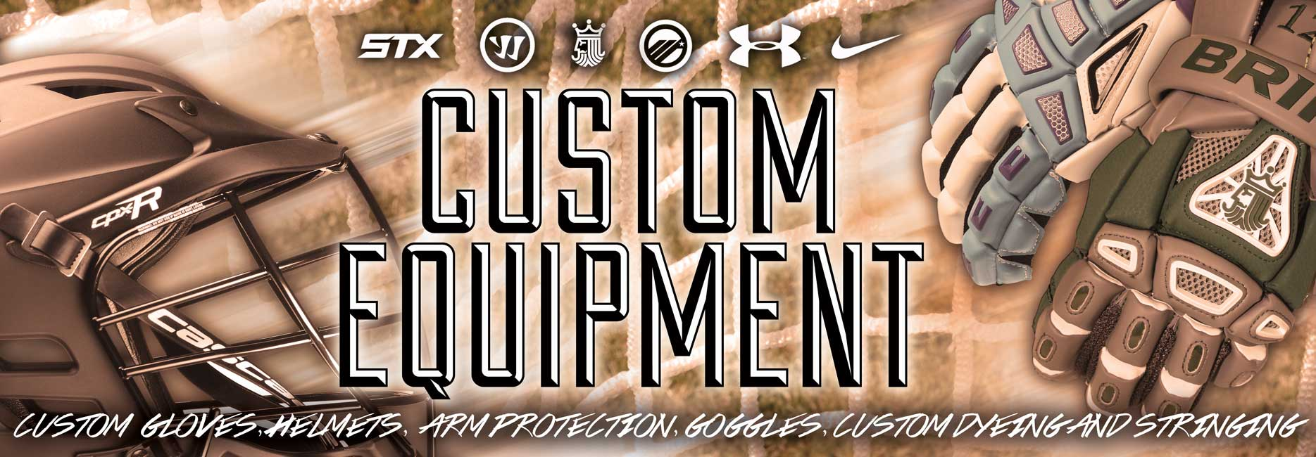 Custom Lacrosse Gloves and Equipment from Lacrosse Unlimited